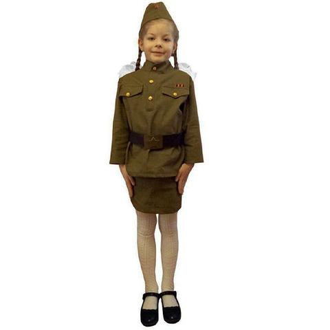 Костюм 3-ка военный СССР р 32 (5-6 лет) для девочек