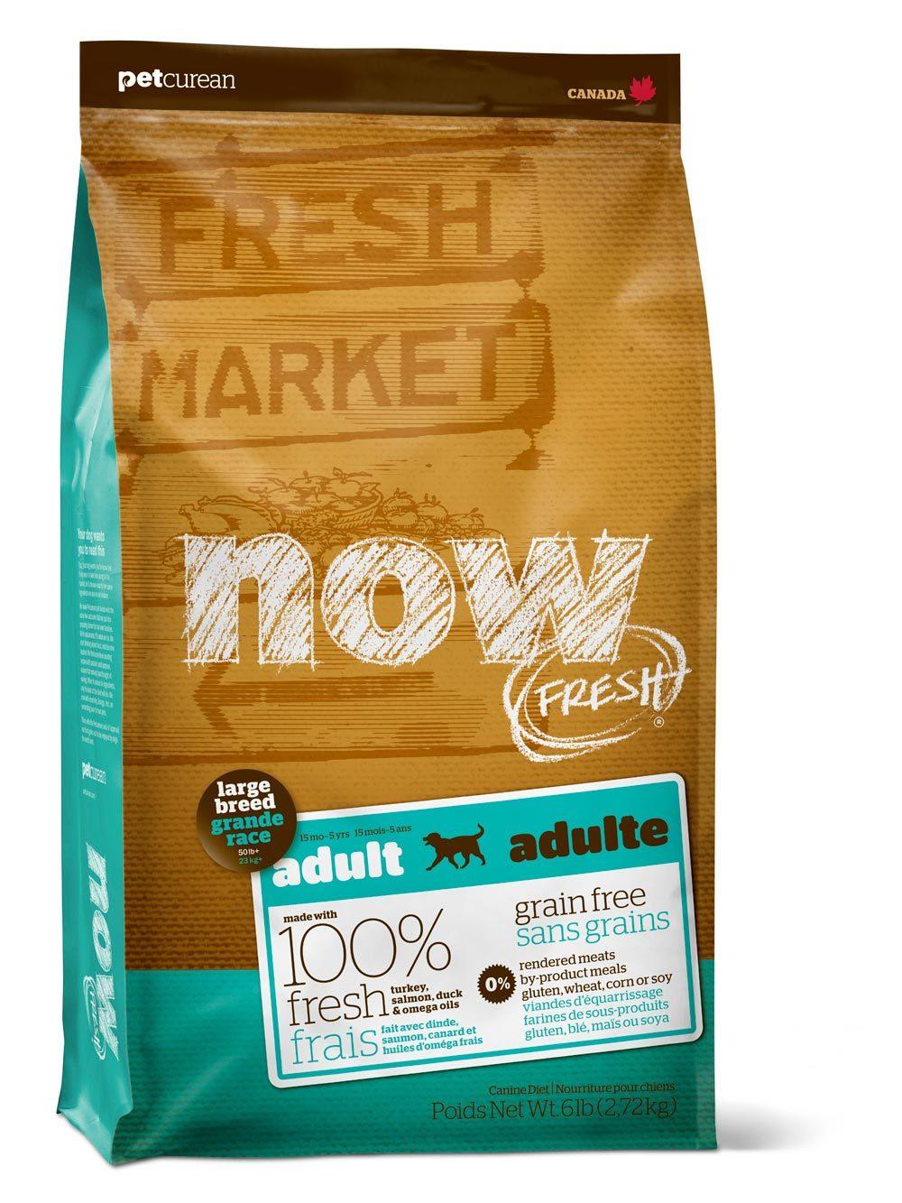 Сухой корм Беззерновой корм для взрослых собак крупных пород, NOW FRESH, с индейкой, уткой и овощами 2700_13.jpg