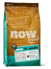 Беззерновой корм для взрослых собак крупных пород, NOW FRESH, с индейкой, уткой и овощами