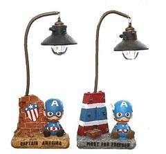 Капитан Америка светильник настольный
