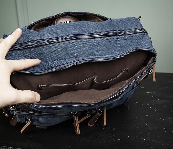 BAG475-3 Мужской городской рюкзак трансформер синего цвета фото 11