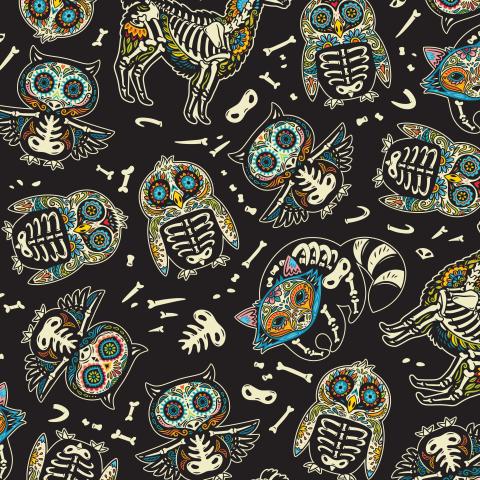 Скелеты-животные