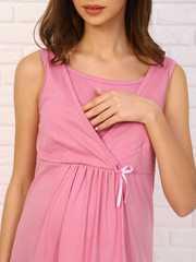 Мамаландия. Комплект для беременных и кормящих с отрезной кокеткой, фламинго/розовый