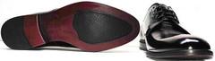 Дерби туфли мужские модные лаковые Ikoc 2118-6 Patent Black Leather