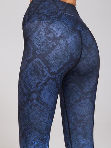 Леггинсы жен. с высокой посадкой для йоги синие