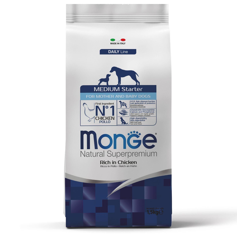 Сухой корм Корм для щенков средних пород Monge Dog Medium Starter Puppy&Junior 70011600_1.jpeg