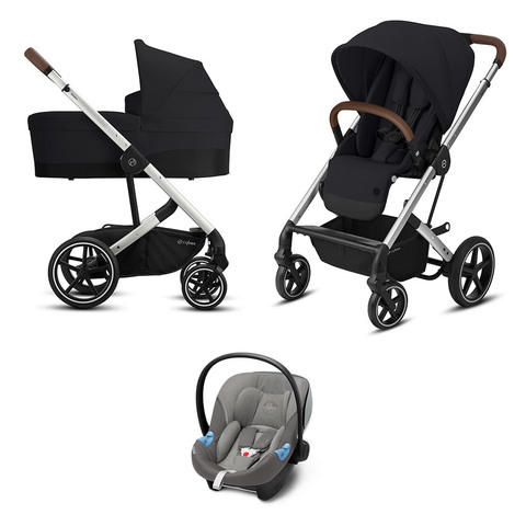 Детская коляска Cybex Balios S Lux SLV 3 в 1 Deep Black