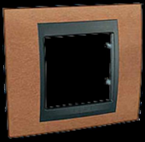 Рамка на 1 пост. Цвет Вишня-графит. Schneider electric Unica Top. MGU66.002.2M2