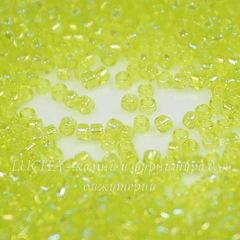 0164 Бисер японский TOHO Treasure (цилиндр) 11/0, радужный зеленый лайм