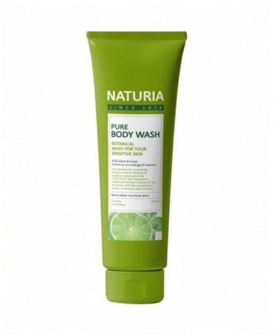 Evas Naturia Pure Body Wash Wild Mint & Lime гель для душа с освежающим ароматом мяты, эвкалипта и лайма