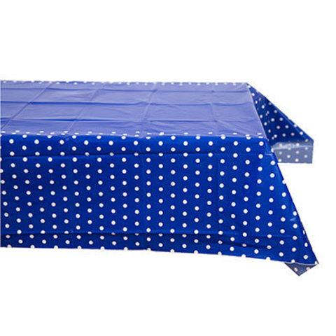 1502-3958 Скатерть п/э Горошек синяя