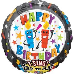 "Поющий шар ""Свечи Happy Birthday"""