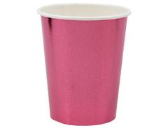Стакан фольгированные, Розовый, 250 мл, 6 шт, 1 уп.