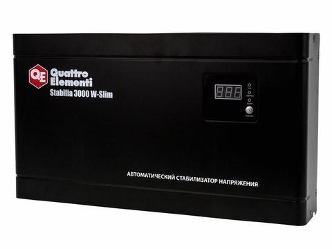 Стабилизатор напряжения QUATTRO ELEMENTI Stabilia    3000 W-Slim (3000 ВА, 140-270 В, 8,4  (640-537)