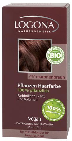 LOGONA растительная краска для волос 070 «КАШТАН КОРИЧНЕВЫЙ»