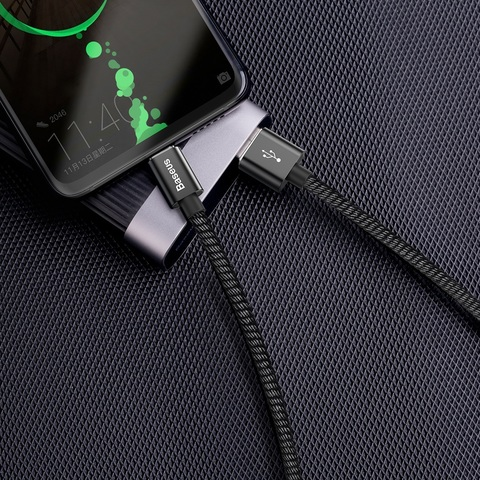 Кабель Baseus double fast charging USB cable USB For Type-C 5A 1m Black