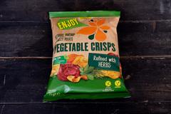 Овощные чипсы с травами
