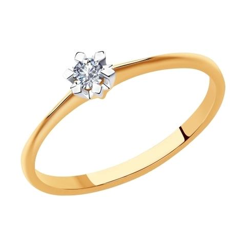 1012006 - Кольцо из золота с бриллиантом