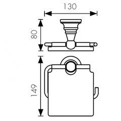 Держатель для туалетной бумаги KAISER Arno KH-2200 схема