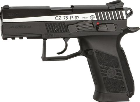 Пистолет пневматический ASG CZ-75 P-07 DUTY  BLOWBACK  металл/серебро (артикул 16533)