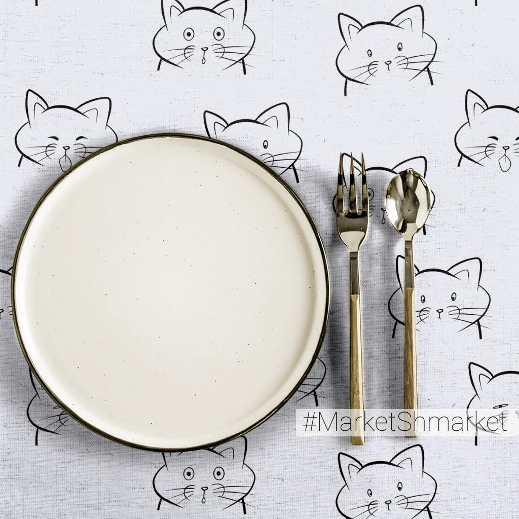Ткани смешные котики - закажи на #MarketShmarket.com любая ткань с любым  принтом
