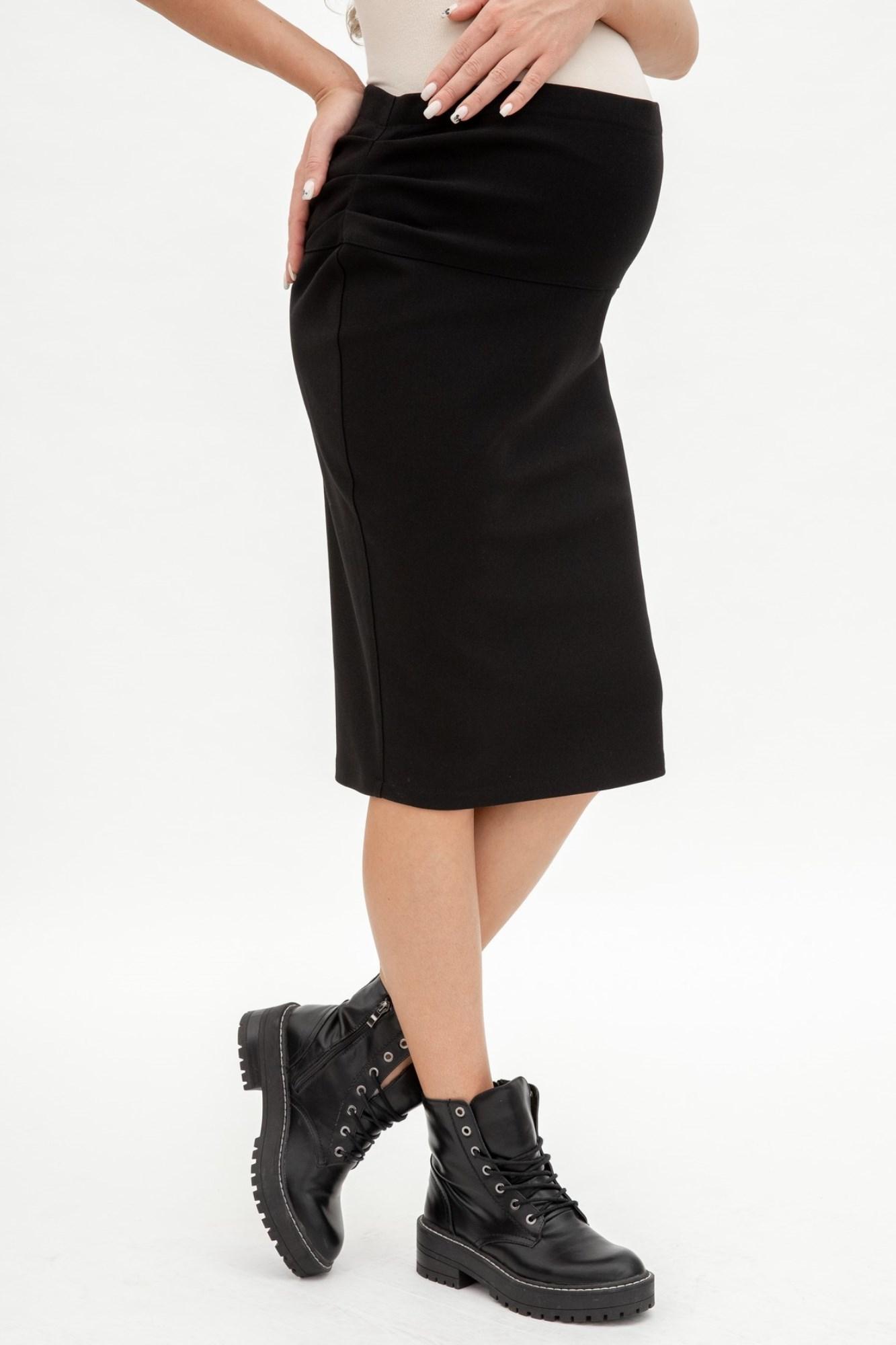 Утепленная юбка для беременных 06652 черный