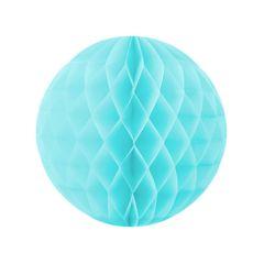 Бумажный Шар-соты, Голубой, 40 см