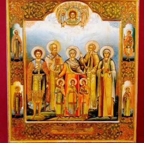 Икона святые Вера, Надежда, Любовь и матерь их София на дереве на левкасе мастерская Иконный Дом