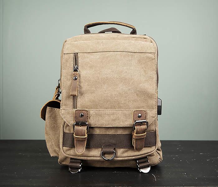BAG476-2 Городской повседневный рюкзак с USB зарядкой фото 02
