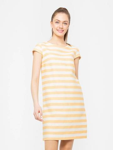 Фото летнее повседневное платье а-силуэта с принтом в полоску - Платье З172-581 (1)