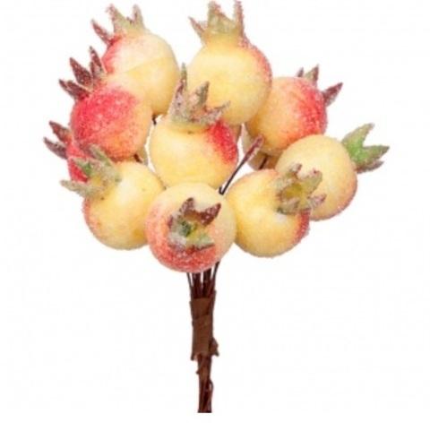 Набор ягод засахаренных на вставках 12шт., D2x3xL11см, цвет: красный/желтый