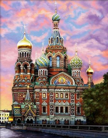 Картина раскраска по номерам 40x50 Храм