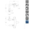 Напольный термостатический смеситель для ванны с изливом и душевым комплектом DRAKO 3335M - фото №2