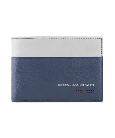 Кошелек Piquadro Urban, синий/серый, 13x9x2 см