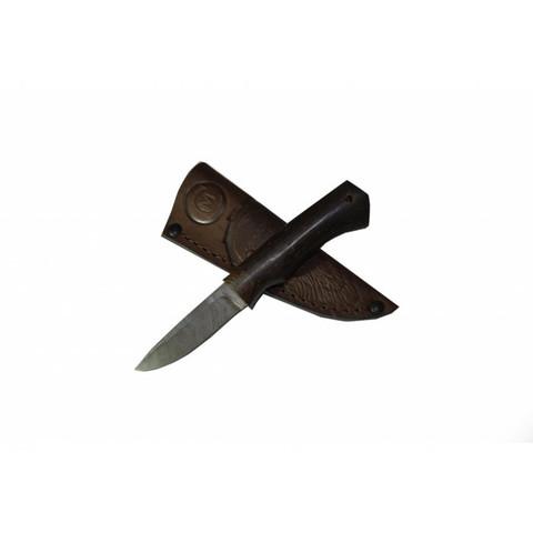 Нож Амулет, дамасская сталь, рукоять венге