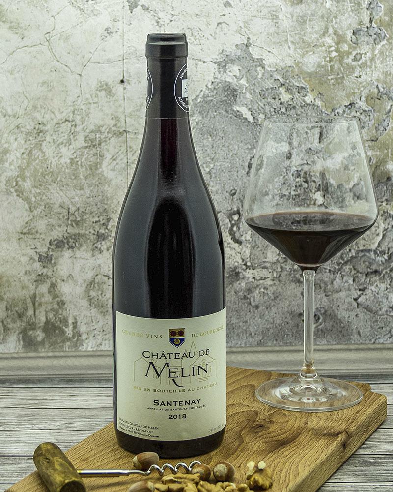 Вино Chateau De Melin Шато де Мелан Сантене Красное Cухое 2018 г.у. 13% 0,75 л.