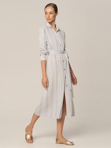 Женское платье голубого цвета из вискозы - фото 2