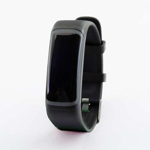 Браслет здоровья с автоматическим измерением температуры, давления, пульса и кислорода Health Band №4 (чёрно-чёрный)