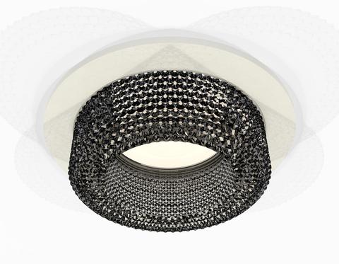 Комплект встраиваемого светильника XC7621021 SWH/BK белый песок/тонированный MR16 GU5.3 (C7621, N7192)