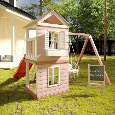 Детский игровой комплекс с качелями гнездо