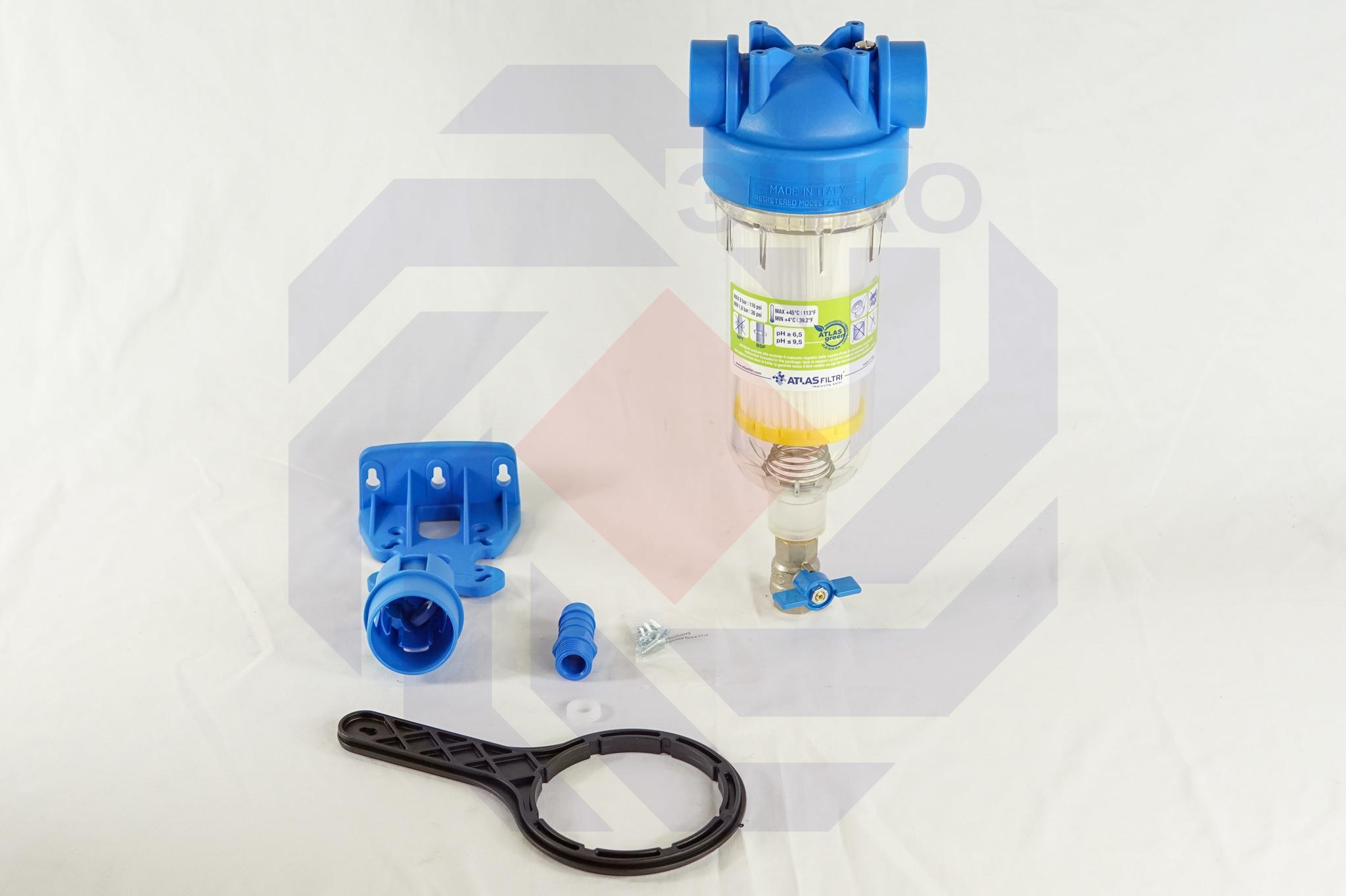Фильтр для механической очистки самопромывающийся ATLAS HYDRA RSH 50 микрон 1