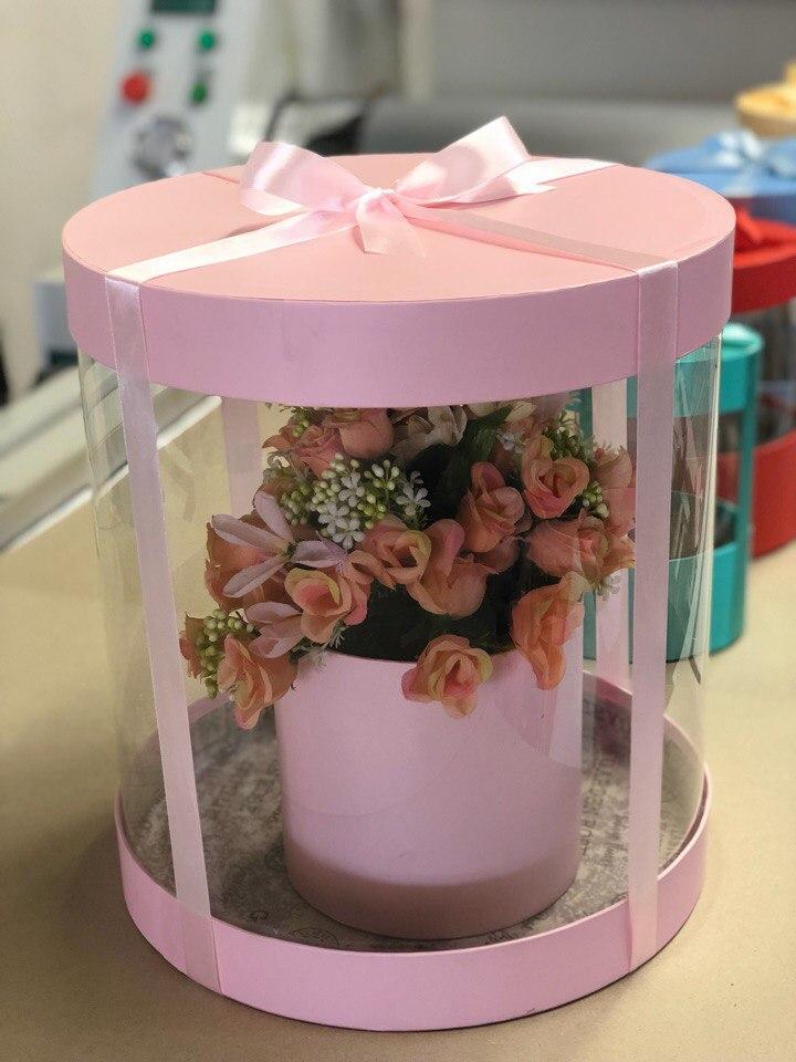 Коробка аквариум 32см Цвет :Нежно pозовый  . Розница 700 рублей .
