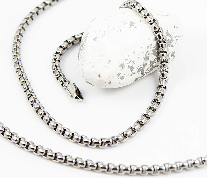 SSNQ-4041-4 Мужская «дутая» цепочка из стали, Spikes (60 см)
