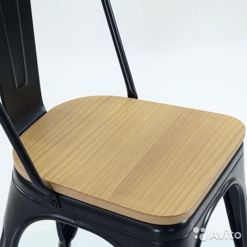 Стул кухонный интерьерный Tolix Wood Style