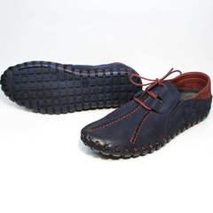 Синие мужские туфли спортивного стиля Luciano Bellini 23406-00 LNBN.