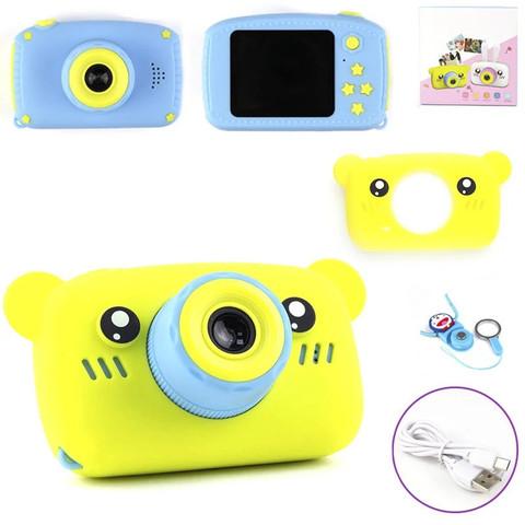 Детский фотоаппарат Мишка жёлтый