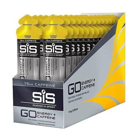 SiS Go Isotonic Energy Gels + 75 мг. Caffeine, 30х60 ml. Цитрус (Великобритания)