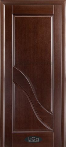 Дверь Глория ПГ (венге, глухая шпонированная), фабрика LiGa
