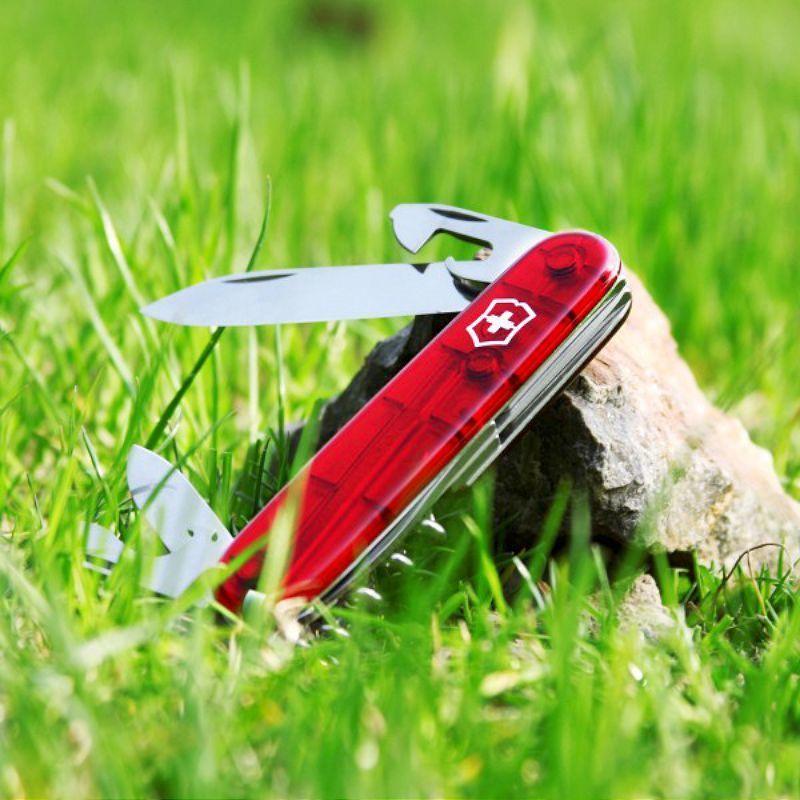 Складной нож Victorinox Spartan Red Trans (1.3603.T) 91 мм., 12 функций, красный полупрозрачный - Wenger-Victorinox.Ru