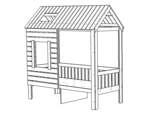 Кровать АМИ-2-1700-0700 /1808*1835*871/ правая